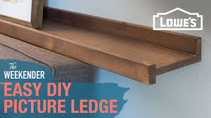Easy DIY Picture Ledge