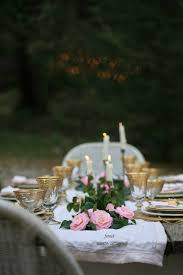 Table Setting In French Simple Elegant Table Setting For Spring French Country Cottage