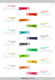 Year Timeline Timeline Presentation For 12 Months 1 Year Timeline Infographics