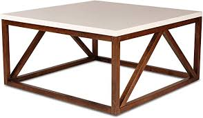 Find this pin and more on mount rainier by alicia giovannini. Amazon Com Kate And Laurel Kaya Two Toned Wood Square Coffee Table With White Top And Walnut Brown Base Furniture Decor