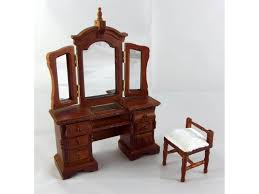 miniature dollhouse furniture woodworking. Dolls House Venetian Dressing Table \u0026 Stool Miniature Walnut Bedroom Furniture Dollhouse Woodworking