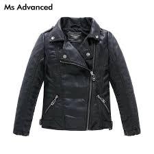 teenager girls boys leather jacket boys casual black solid children outerwear kids girls coats spring leather jackets 2017 new winter jacket kids boys rain