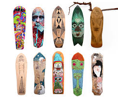 Skateboards Designs Reskate Old Skateboards Are Rescued And Turned Into Amazing
