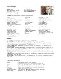 Gallery Of Audition Resume Template
