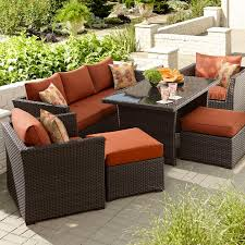 grand resort monterey patio furniture modern day bedford 6 piece seating set with casual height coffee