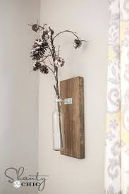 wall hanging vases wine bottle wall vase shanty 2 chic diy hanging wall vases