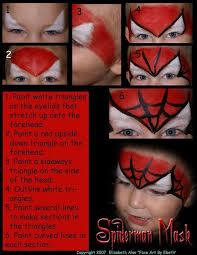 step by step spiderman face painting