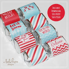 Avery Holiday Label Christmas Candy Bar Wrappers Chocolate Nugget Wrappers