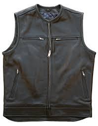 zip up motorcycle vest
