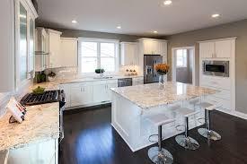 granite kitchen countertops with white cabinets. White Kitchen With Bianco Romano Granite Countertops Cabinets