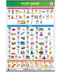 Swar Vyanjan Chart English Hindi And Marathi Alphabet And Number Charts For Kids English Alphabet Hindi Varnamala And Marathi Mulakshare Set Of 3 Charts Perfect