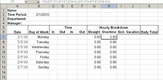 Excel Overtime Formula Build A Simple Timesheet In Excel Techrepublic