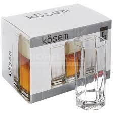 <b>Стакан стеклянный Pasabahce</b> Kosem 42082, 6 шт, 380 мл в ...