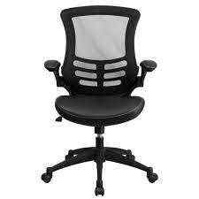 Flip Furniture Flash Furniture Bl X 5m Lea Gg Mid Back Black Mesh And Leather
