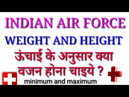 Upsc Height Weight Chart Indian Air Force Height And Weight Chart For Females