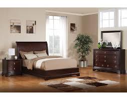 King Bed Bedroom Set Noah King Bed Dark Cherry Leons