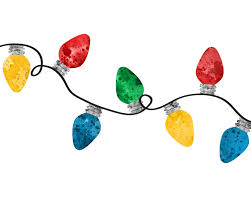 Christmas Lights Watercolor Pin By Gauthier Design Studio On Home For The Holidays
