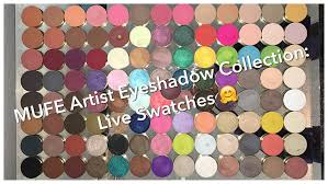 make up for ever artist eyeshadow collection live swatches 109 colors