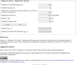 Pdf A Web Based Sample Size Calculator For Reliability