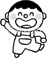 男の子 白黒イラスト No 384514無料イラストならイラストac