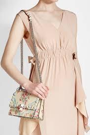 fendi mini kan i printed and studded leather shoulder bag multicolored women fendi shoes sneaker gorgeous
