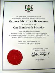 G.m.h.'s 100Th Birthday Congratulations Certificate From G…   Flickr