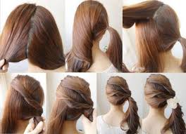 Hairstyle Yourself diy easy ponytail hairstyle yourself fashion tips medium hair 7791 by stevesalt.us