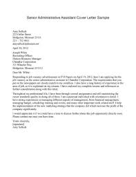 Executive Assistant Cover Letter Examples General Administrative Assistant Cover Letter Cover Letter For
