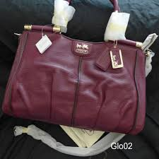 NWT COACH MADISON PINNACLE RASPBERRY TEXTURED LEATHER CARRIE SATCHEL BAG  21503