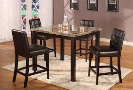 formal dining room design pub style high top tables square laminate granite tabletops espresso finish table