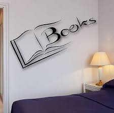 Small Picture Vinyl Decal Books Wall Sticker Reading Room Library Science Decor