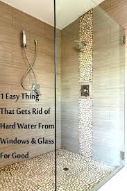 outstanding how to get hard water spots off glass shower doors hard water stains on glass outstanding