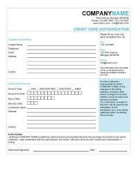 25+ Credit Card Authorization Form Template - Free Download!!
