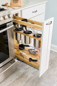 if you want to make use of narrow space use a pull out