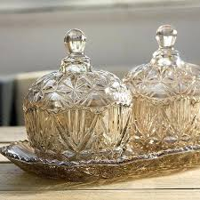 decorative glass containers crystal candy jar dried fruit boxes storage ornaments modern furnishings home accessories in decorative glass