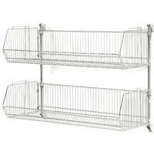 wall mounted wire shelving. Wall Mount Basket Kit 36\ Mounted Wire Shelving H