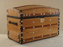 Steamer Trunk Furniture Refinished Steamer Trunk Restored Antique Trunks Steamer