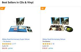Amazon Cd Sales Chart We Love You Beatles Abbey Road Tops Sales Charts Best