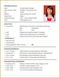 Resume Template Professional Curriculum Vitae Format Sample