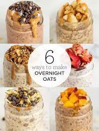 6 healthy overnight oats recipes easy