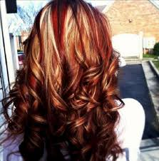 Blonde Hairstyles With Red And Brown Highlights