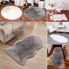 extra large fluffy wool sheepskin mat sofa cushion rug floor carpet gy soft