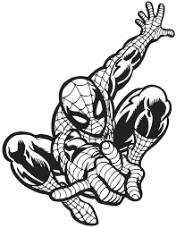 cool spider man superhero coloring page spider printable spiderman coloring pages for kids