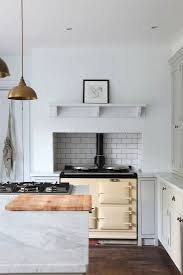 kitchen backsplash subway tile patterns. Classic White Subway Tile In An Inset Backsplash From Steal This Look: Minimalist English Kitchen Patterns
