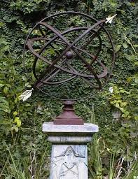 large armillary sphere garden art in many colors finegardens