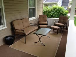 image of outdoor jute rug porch