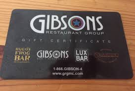 gibsons restaurant group gift card 1 of 1