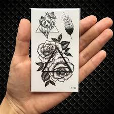 Geometric Flowers Loox Tattoo