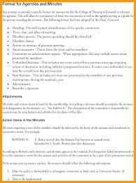 Format For Minutes Writing Writing Minutes Template Meeting Taking Example At A Minute