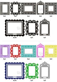 reusable sticker picture frames